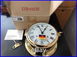 Hermle Brass Ship's Bell Clock Made in Germany (New in Original Box) 7 Diameter