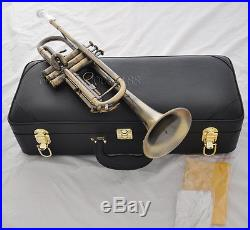High Grade Antique Bb trumpet horn with mouthpiece case 4-7/8 bell