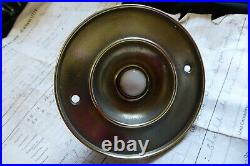 Huge 6 Brass & Ceramic Electric Door Bell Push (Reclaimed, restored, antique)