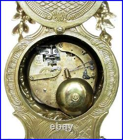 Imperial Solid Brass Mantel Clock Made In Italy, Hermle Bell-striking Movement