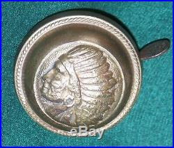 Indian Chief BELL nickel over cast brass antique bicycle vintage prewar