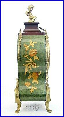 Italian Hermle Imperial Bell-striking Clock Louis XV Cartel Boulle Style Working