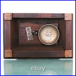 JUNGHANS Alarm Mantel Clock Antique 1910s BELL Chime! Germany Carriage RESTORED