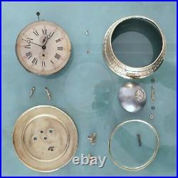 JUNGHANS Alarm Mantel Clock Antique RARE! 1910s XXXL LARGE BELL Germany RESTORED