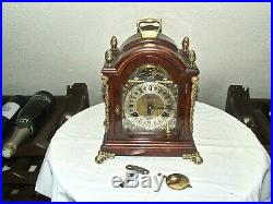 John Smith London 8 Day Bracket, Mantle Clock, Pendulum Movement, Moonphase, 2 Bells