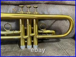 Kanstul WB 1600 Bb Trumpet. 460 Bore 4 7/8 Bell Antique Gold Scratch Lacquer