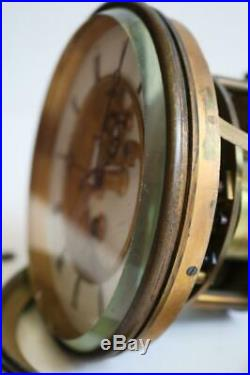 LARGE ANTIQUE FRENCH BELL STRIKE CLOCK MOVEMENT by S. MARTI visible escapement