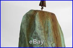 LARGE Soleri Cosanti Vtg Mid Century Modern Bronze Green Wind Chime Bell 7 Tall