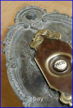 LARGE Victorian Door Bell Push Original Lead & Brass RARE Restored & Refurbished