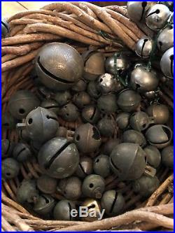 LOT Jingle Sleigh Bells Brass Pedal Buckle Vintage Antique