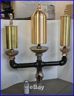 Large 3 bell chime steam whistle #4 antique brass