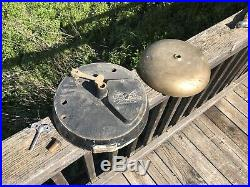 Large Antique GAMEWELL Brass FIRE STATION Bell (A3)