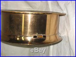Large Brass 10 1/2 Chelsea Ships Bell Clock 8 Dial SN-795173