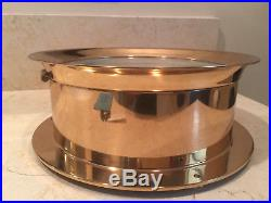 Large Brass 10 1/2 Chelsea Ships Bell Clock 8 Dial SN-828389