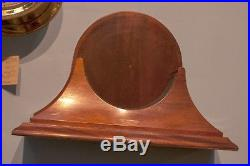 Large Chelsea Ship's Bell Brass Clock With Beautiful Mahogany Stand