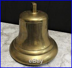 Large Marine Vessel CRYSTAL ACE Maritime Nautical Brass Shipwreck Bell, Marked