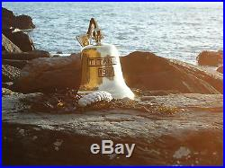 Large Titanic Ships Brass Bell with Rope 3 k in Weight Nautical Sea bar pub door