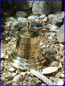 Large Titanic Ships Brass Bell with Rope 3 k in Weight Nautical / bar pub door
