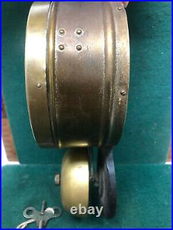 Late 1800s Seth Thomas Brass Ship's Clock with Outside Bell. Has key. Works