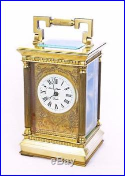 Lge 8 Charles Frodsham Bell-striking Corinthian Carriage Clock & Box Serviced