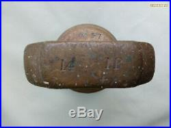 MASSIVE ANTIQUE 14 lb POUND BRASS BELL WEIGHT / DOORSTOP