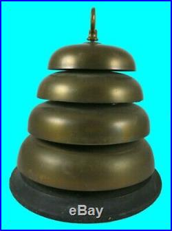 Masonic Beehive Bell Lodge Temple Hall Brass Gong Antique Building School Church