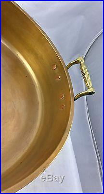 Massive Antique Bell Metal Like Brass Fish Or Jam Pan Dish