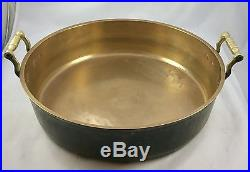 Massive Antique Bell Metal Like Brass Fish Or Jam Pan Dish