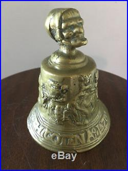 Medieval Church Bell Cast Brass Old Lady Head European