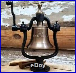Medium Brass Railroad BellPolished or Antiqued10 POUNDS! ENGRAVE UP TO 3 LINES