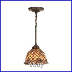 Meyda Lighting 8'W Tiffany Fishscale Mini Pendant, Paba 98821