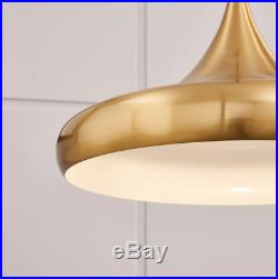 Mid Century Modern Light Fixture Retro Ceiling Pendant Hanging Lamp Gold Bell