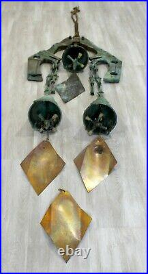 Mid Century Modern Vintage Paolo Soleri Large Bronze Chimes Bells Italy