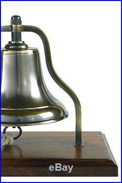 Nautical Brass Ship's Purser's Bell Bronze Antiqued Finish 9.5 New