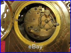 Nice French 19th Century Brass Bell Striking Mantle Clock