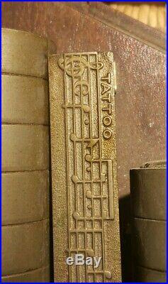 ORIGINAL ANTIQUE MILITARY CAVALRY J. C. Deagan Brass Chimes Withoriginal wooden bat