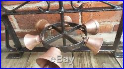 Old Door Bell Wrought Iron Brass Bell Industrial Commercial Shop Jingle bells
