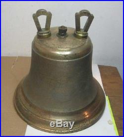 Old Electric Bronze Brass Wall Alarm Bell For Store Fireman Church Boat Ship