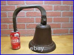 Old Nautical Ship Boat Dockside Bronze Bell Brass Mounting Bracket 12+ lb Patina