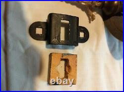 Old Navy Brass ships bell with holder 7 pounds