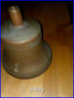 Old Original U. S. United States Navy Brass Nautical Ships Boat Bell