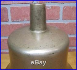 Old USN United States Navy Brass Nickel Plated Retired Nautical Ships Boat Bell