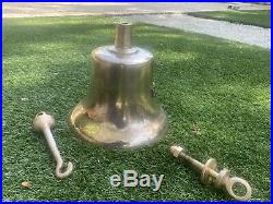 Old US Navy SHIP BELL Retired Brass Bronze USN WWII United States Nautical ship
