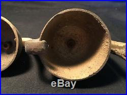 Old Vtg Antique Brass Cast Iron Ice Cream Truck Cart Ringing Bells