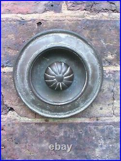 Original Victorian Unpolished Brass Exterior Door Bell Pull Handle