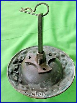 Original antique circa 1869 large Victorian brass door Bell Pull with kite mark