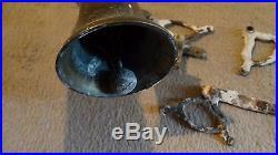 Original brass Georgian/Victorian antique coiled door bell and pull swings