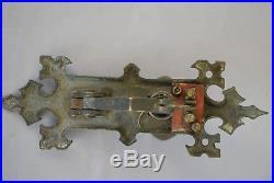 Ornate Brass Antique Patina Door Bell Pull Mechanical Or Electric Original Item