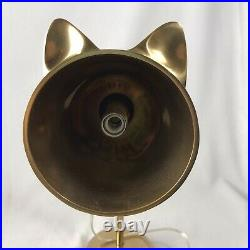 Pottery Barn Teen Brass Emily & Meritt KITTY Cat Ear TASK LAMP Desk Kid