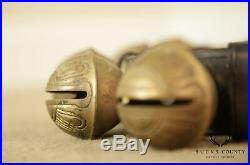Quality Antique/Vintage Sleigh Bells on Leather Strap